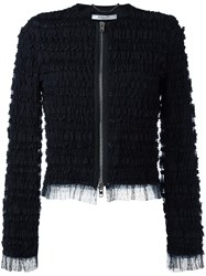 Givenchy Ruffle Embellished Jacket Black