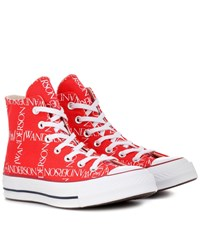 J.W.Anderson X Converse Chuck 70 Logo Print Sneakers Red