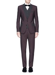 Dolce And Gabbana 'Martini' Three Piece Virgin Wool Tuxedo Suit Red