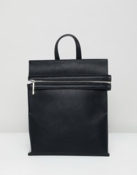 Faith Black Zip Front Pocket Minimal Backpack