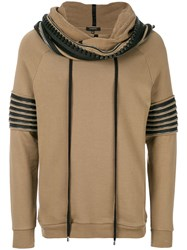 Unconditional Funnel Neck Hoodie Brown