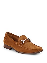 Saks Fifth Avenue Donato Suede Horsebit Loafers Tobacco