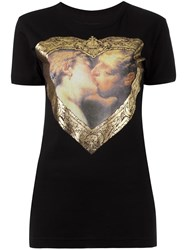 Vivienne Westwood Anglomania Heart Print T Shirt Black