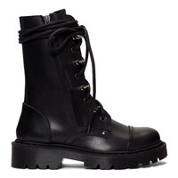 Vetements Black Spiked Army Boots