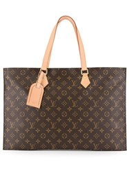 Louis Vuitton Vintage Monogram Tote Bag Brown
