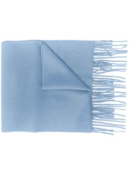 Mulberry Cashmere Scarf Blue