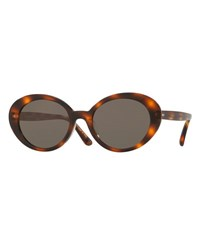 Oliver Peoples Parquet Monochromatic Oval Sunglasses Tortoise Black