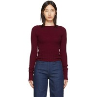 Christophe Lemaire Red Fitted Sweater