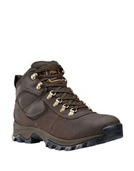 Timberland Mt. Maddsen Leather Mid Top Waterproof Boots Dark Brown