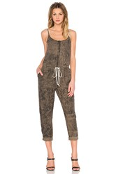 Enza Costa Linen Strappy Jumpsuit Olive