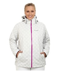 Columbia Plus Size Whirlibird Interchange Jacket White Plaid Print Women's Coat