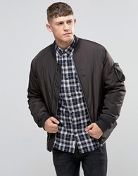 Bellfield Padded Nylon Bomber Jacket Black