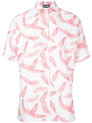 Dalood Red Feather Shirt White