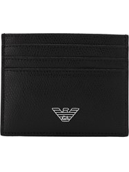 Emporio Armani Logo Plaque Wallet Black