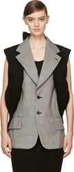 Comme Des Garcons Black And White Braided Vest