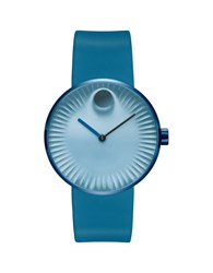 Movado Edge Stainless Steel Blue Dial Analog Strap Watch
