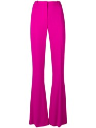 Capucci High Waisted Flared Trousers Pink And Purple