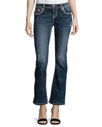 Miss Me Mid Rise Boot Cut Jeans Blue