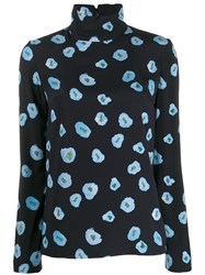 Christian Wijnants Floral Top Blue