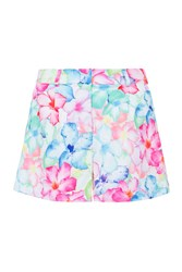 Wolf And Whistle Hawaii Floral Tailored Shorts Multi Coloured