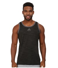 Adidas Heathered Tank Black Granite Men's Sleeveless