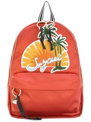 See By Chloe Sunset Scene Backpack Women Cotton Polyester One Size Yellow Orange