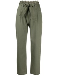 Twin Set Broderie Anglaise Canvas Trousers 60