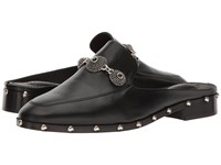 The Kooples Leather Mule With Jewels Black