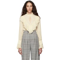 See By Chloe Off White Crepe De Chine Blouse