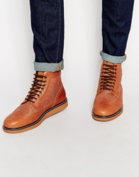 Fred Perry Northgate Leather Brogue Boots Brown