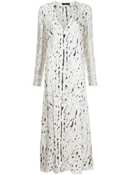 Calvin Klein Collection Splatter Print Midi Dress White
