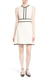 Kate Spade Women's New York Scallop Trim Tweed Fit And Flare Dress