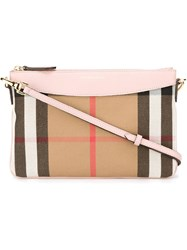 Burberry 'House Check' Crossbody Bag Nude And Neutrals