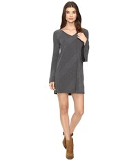 Brigitte Bailey Berne Bell Sleeve Sweater Dress Charcoal Women's Dress Gray