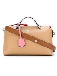 Fendi Small 'By The Way Boston' Tote Nude And Neutrals