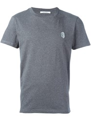 Carven 'Paper Clip Patch' T Shirt Grey