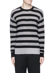 Mcq By Alexander Mcqueen Metallic Stripe Sweater Multi Colour