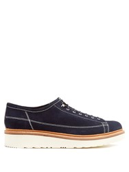 Grenson Inigo Raised Sole Derby Shoes Navy
