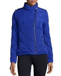 Marc Ny Performance Quilted Puffer Jacket With Zip Off Sleeves Indigo