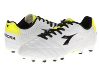 Diadora Italica Goal K Pro White Black Yellow Men's Soccer Shoes