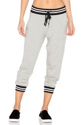 Beyond Yoga Varsity Cropped Sweatpant Gray
