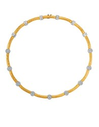 Morris And David Diamond 14K White Yellow Gold Collar Necklace 1.4Tcw