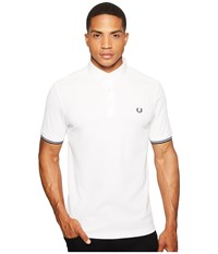 Fred Perry Woven Collar Pique Shirt Optic White Men's Clothing