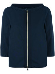 Herno Three Quarters Down Jacket Blue