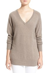 Women's Equipment 'Asher' V Neck Cashmere Sweater Heather Taupe