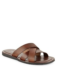 Saks Fifth Avenue Italian Leather Sandals Brown