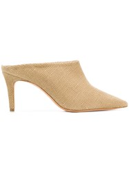 Jean Michel Cazabat Slip On Pointed Pumps Nude And Neutrals