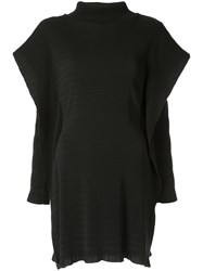 Christopher Esber Layered Sleeve Ribbed Tunic Black