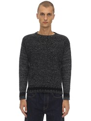 Massimo Piombo Lambs Wool Knit Sweater Grey