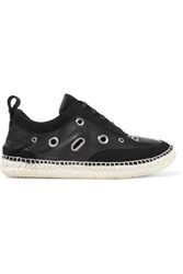 Mcq By Alexander Mcqueen Embellished Suede And Leather Sneakers Black